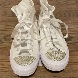 crystal converse high top sneakers